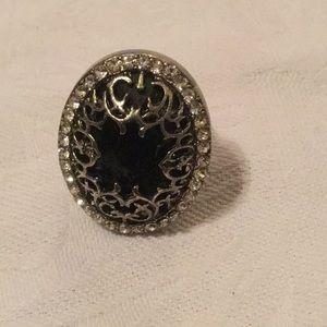 🖤NWOT Amazing Costume Rhinestone Expandable Ring